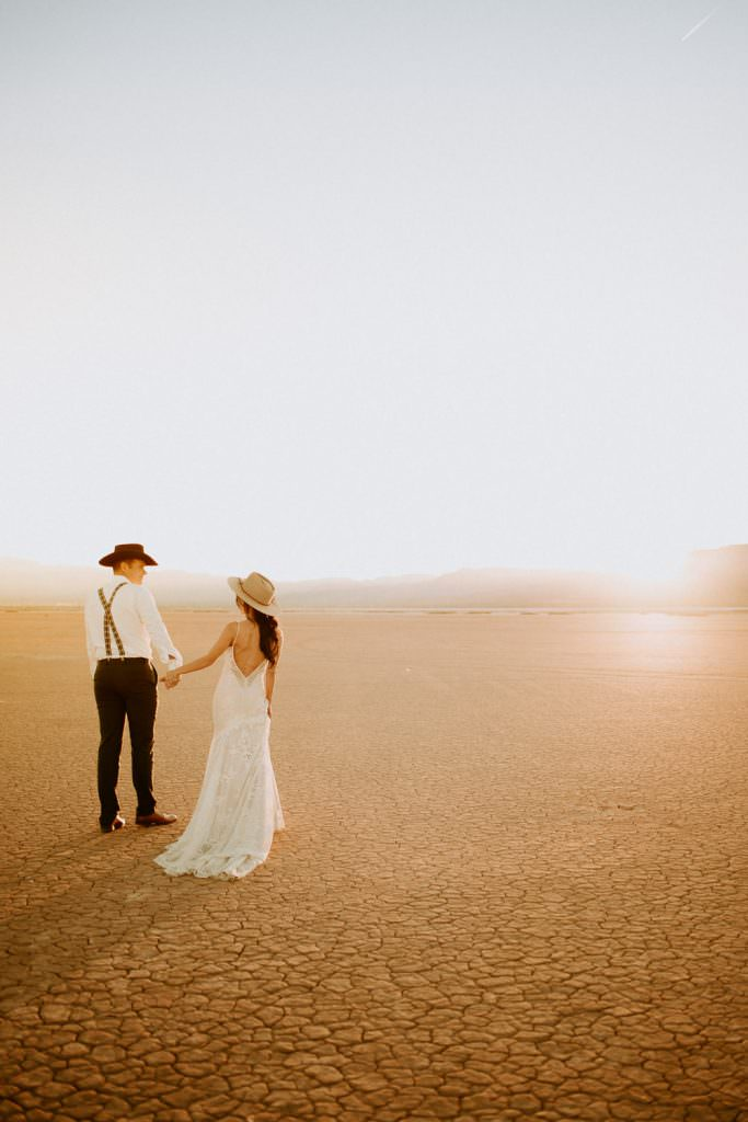 Las Vegas Dry Lake Bed Elopement Feel And Focus Photography